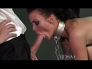 Bdsm Xxx big breasted subs get chained up slapped and fucked