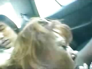 Pervert italian granny has fun with young students in car real amateur