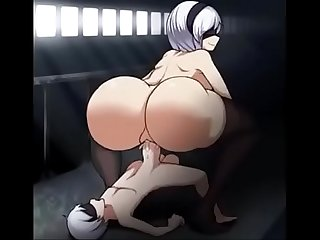 Sinensian big ass 2b Hentai booty bounce