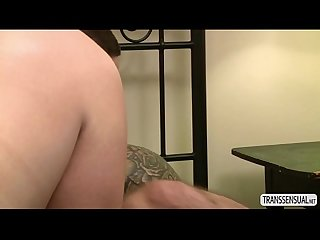 Teen Shemale Aspen receives erotic anal sex with male hunk