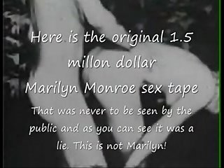 Marilyn monroe original 1 5 million dollar sex tape