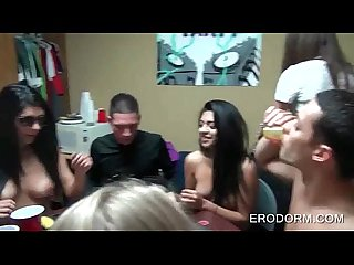 Sex poker game at college dorm room party