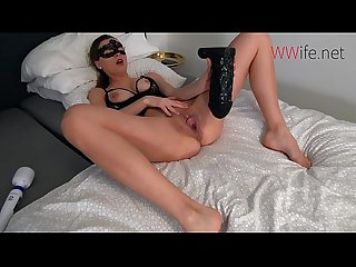 EXTREME HOT CREAMY PUSSY GAPE - Biggest dildo fuck