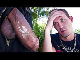 GAYWIRE - Scared Little Logan White Faces Castro Supreme's Big Black Dick
