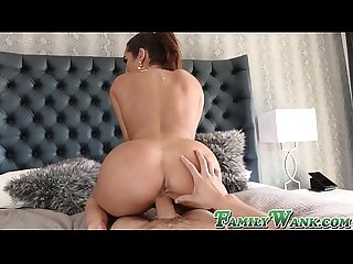 Gorgeous stepmom Christiana Cinn spreads legs for big cock