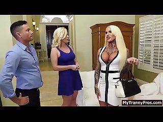 Blonde neighbor sucks tgirl nadias shecock