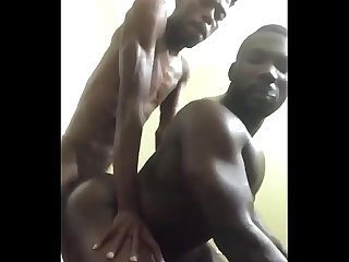 Horny gay bottom takes big skinny black dick doggystyle period smoking fucking