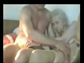 Very old granny used by young man real amateur