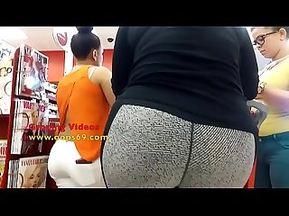 Touching her ass in supermarket