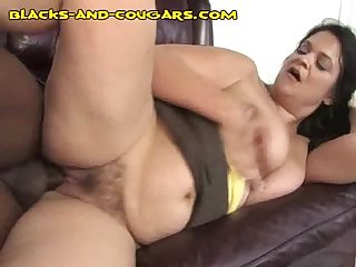 Mature gets black stuffing