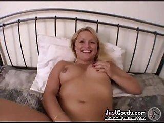 College coed amateur blonde big sex toy exgf