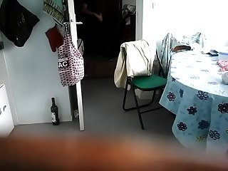 Aunty changing her clothes on camera