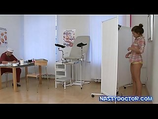 Old gyno doc seducing teen cutie