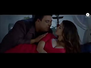 Sunny leone red hot in red saree huge boobs cleavage song