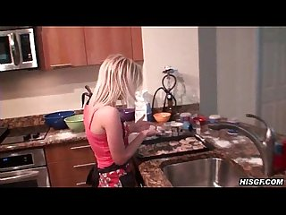 Desray stops cooking to start sucking