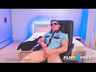Pablo Coco - Flirt4Free - Ripped Cop Strips Off His Uniform to Beat His Big Baton