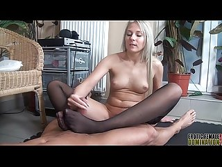 Viktoria diamond teases her slave with some hot erotic foot domination2