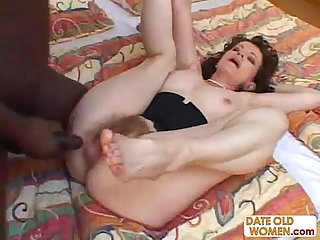 Hairy granny fucked hard by big black man