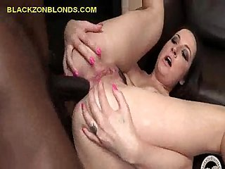 Black anal for a brunette