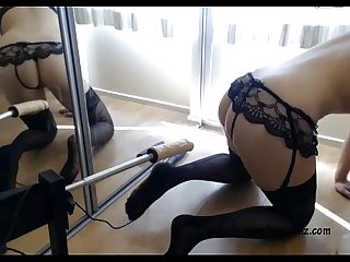Girls4Cock.Com *** Tight Blonde and Her Fucking Machine