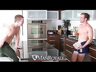 ManRoyale Morning tease turns into fuck with Tommy Regan