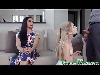 Petite babe Jane Wilde lectured in fucking by stepmom
