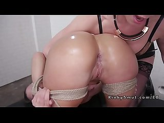 Blonde anal gaping and toying for revenge
