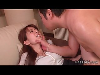Steamy ass rimming for Yui Hatano before a fuck