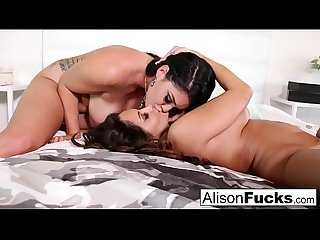 Hot lesbian fucking with stacked Alison and Ava