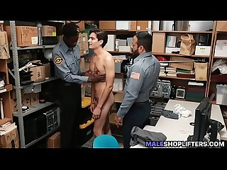 Straight Dude Barebacked By Two Police Cops