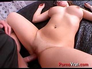 This is her first porn movie. She got fucked by only two men in her whole life!