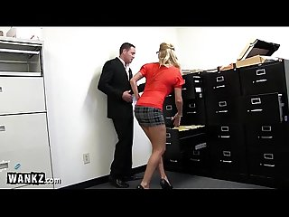 WANKZ - MILF Slut Squirting All Over Her Office!