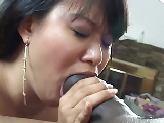 Slut with hairy kitty is having deep penetration