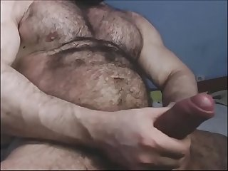 Muscle bull with huge cock