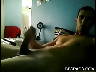 Wanking my huge cock