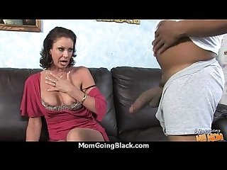 Sexy mom gets a creamy facial after getting pounded by a black dude 3