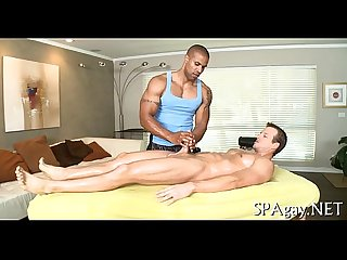 Erotic homosexual male massage