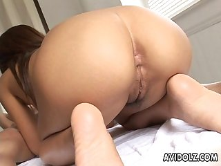 Beautiful Momose fucked with wild cumshot!