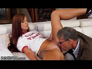 DevilsFilm Scarlett Mae Always Wanted 2 Try Old Cock