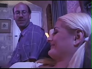 18J-Blond-Daddy read Story-becomes real - BJ-Fuck-Comedy-Facial-Fingering-Swallow