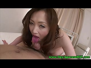 Mature asain fucks her eager studs hard dick in her bed