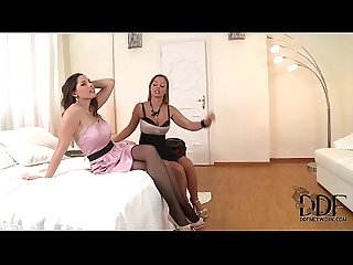 Black Angelica & Zafira Suck On Their Toes & A Double Dong