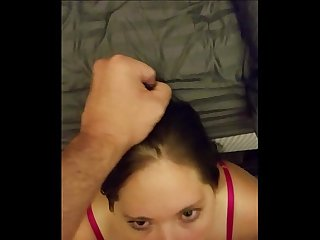 Long hard cock sucked for a hot messy facial