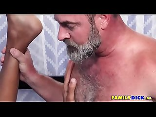Old Young Gay Family Cumshot
