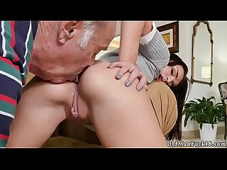 Teen big dick creampie Riding the Old Wood!