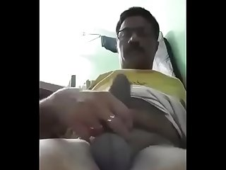 Indian hot daddy solo with big penis