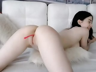 Cute black haired tattooed girl anal dildo analcams.com
