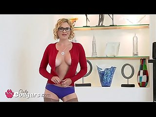 Sexy Sandra Syn Sticks Her Fingers Deep Inside Her Asshole