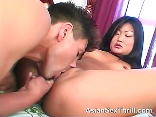 Small sex toy and a asian cum slut