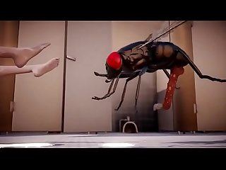 3D [MMD] Lilia Insect Fuck Toilet Part 2 / 2